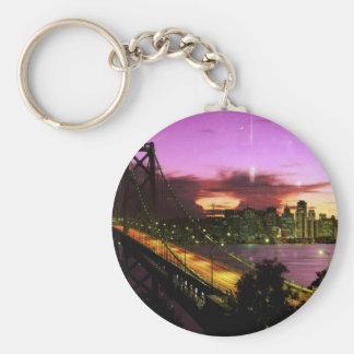 San Francisco key-ring Basic Round Button Key Ring