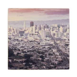 San Francisco Maple Wood Coaster