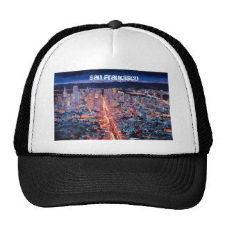 San Francisco - Market Street Night from Twin Peak Trucker Hat