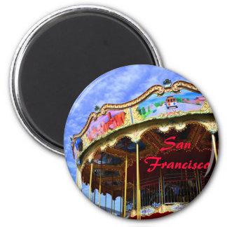 San Francisco Merry-Go-Round 6 Cm Round Magnet