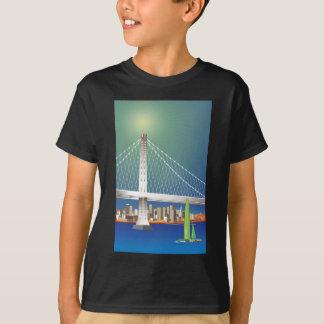San Francisco New Oakland Bay Bridge Cityscape T-Shirt