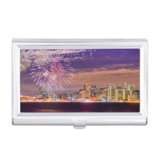 San Francisco New Year Fireworks Business Card Holder
