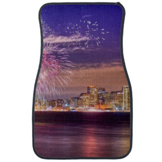San Francisco New Year Fireworks Car Mat