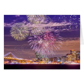 San Francisco New Year Fireworks Card