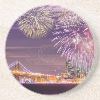 San Francisco New Year Fireworks Coaster