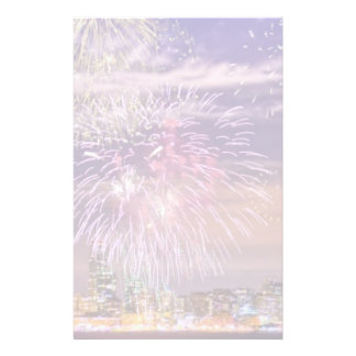 San Francisco New Year Fireworks Customized Stationery