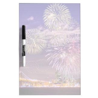 San Francisco New Year Fireworks Dry Erase Board