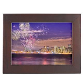 San Francisco New Year Fireworks Keepsake Box