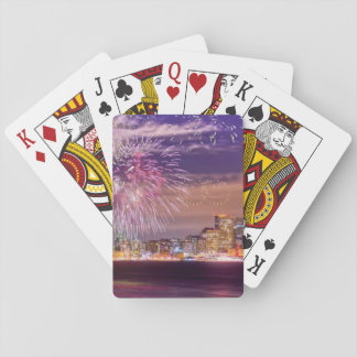 San Francisco New Year Fireworks Playing Cards