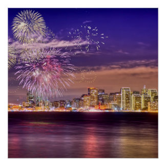 San Francisco New Year Fireworks Poster