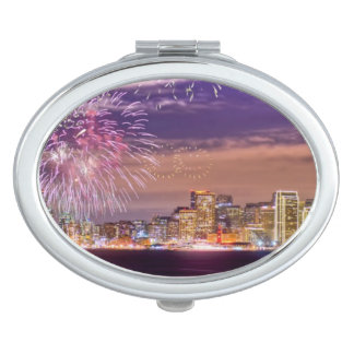 San Francisco New Year Fireworks Travel Mirror