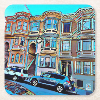San Francisco North Beach Paper Coaster