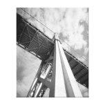 San Francisco Oakland Bay Bridge Tower Stretched Canvas Print