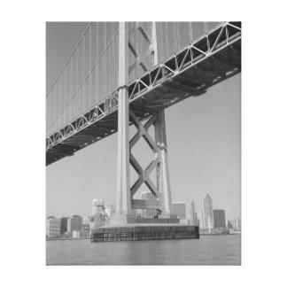 San Francisco Oakland Bay Bridge Tower Canvas Print
