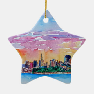 San Francisco of the dawn sunset Christmas Ornament