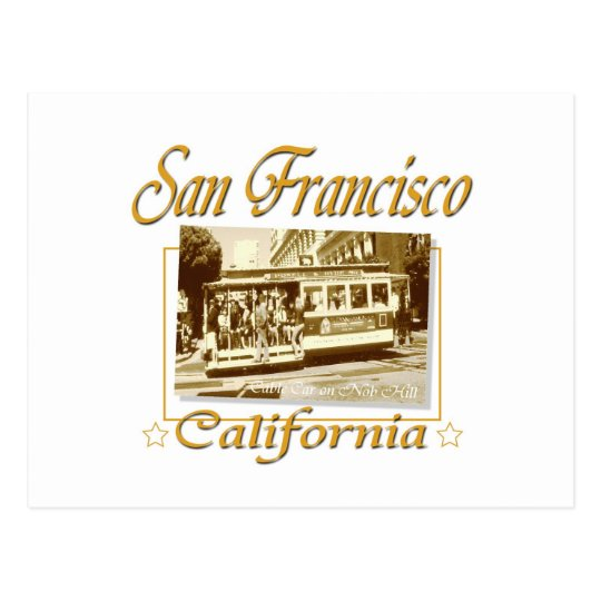 San Francisco Old Cable Car Postcard