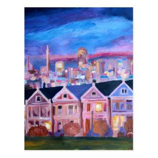 San Francisco  Painted ladies Postcard