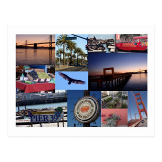 San Francisco Photo Collage Postcard