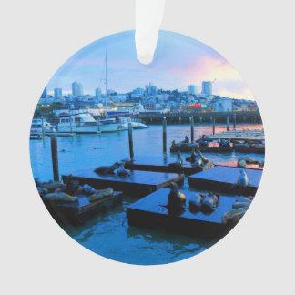 San Francisco Pier 39 Sea Lions #5 Ornament