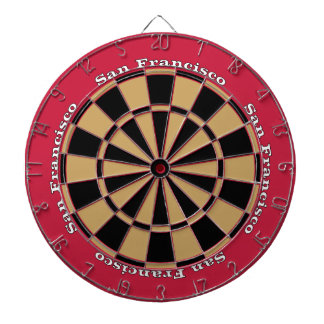 San Francisco Red and Gold Dartboard