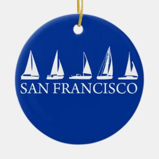 San Francisco Round Ceramic Decoration