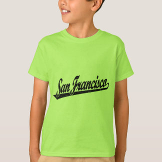 San Francisco script logo in black distressed T-Shirt