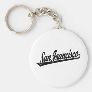 San Francisco script logo in black Key Ring