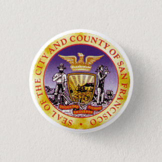San Francisco Seal 3 Cm Round Badge
