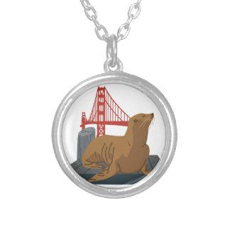 San Francisco Seals Round Pendant Necklace