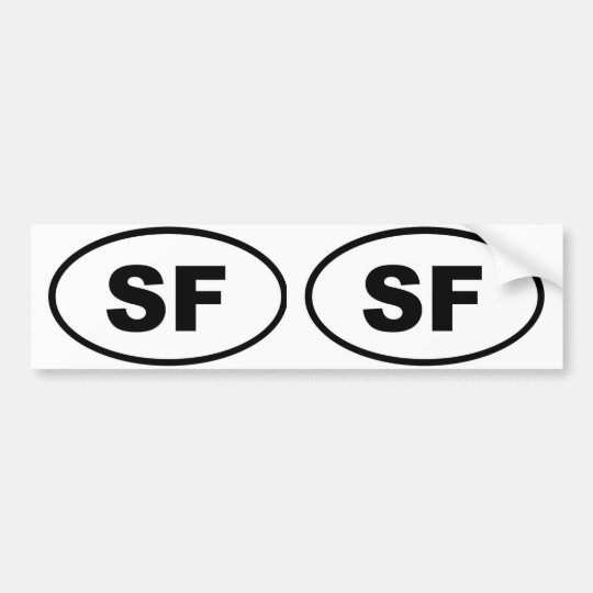 San Francisco SF Bumper Sticker