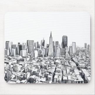 San Francisco SF Citiscape Photograph Mouse Pad