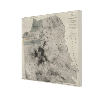 San Francisco showing existing highways Canvas Print