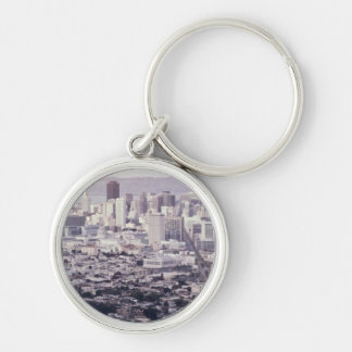 San Francisco Silver-Colored Round Key Ring