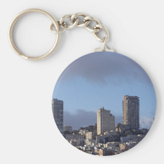 San Francisco Skyline Basic Round Button Key Ring