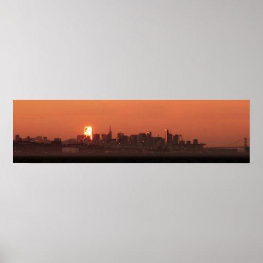 San Francisco Skyline / Bay Bridge Sunset Panorama