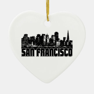 San Francisco Skyline Christmas Ornament