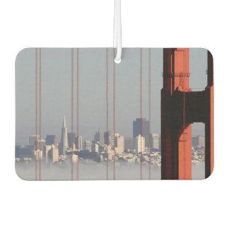 San Francisco Skyline from Golden Gate Bridge. Car Air Freshener