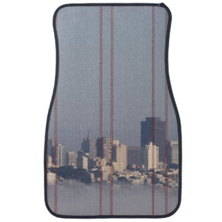 San Francisco Skyline from Golden Gate Bridge. Car Mat