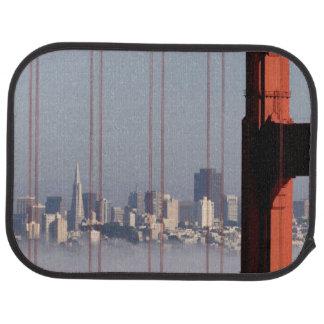San Francisco Skyline from Golden Gate Bridge. Car Mat