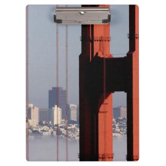 San Francisco Skyline from Golden Gate Bridge. Clipboard