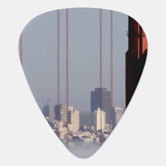 San Francisco Skyline from Golden Gate Bridge. Guitar Pick