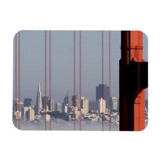 San Francisco Skyline from Golden Gate Bridge. Magnet