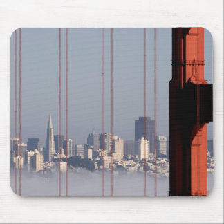 San Francisco Skyline from Golden Gate Bridge. Mouse Pad