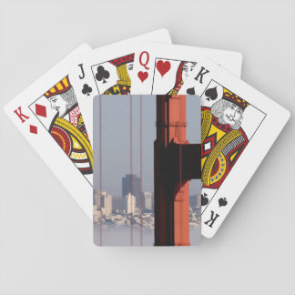 San Francisco Skyline from Golden Gate Bridge. Playing Cards