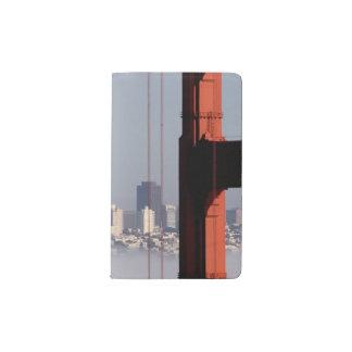 San Francisco Skyline from Golden Gate Bridge. Pocket Moleskine Notebook
