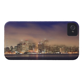 San Francisco skyline in fog at night. iPhone 4 Case