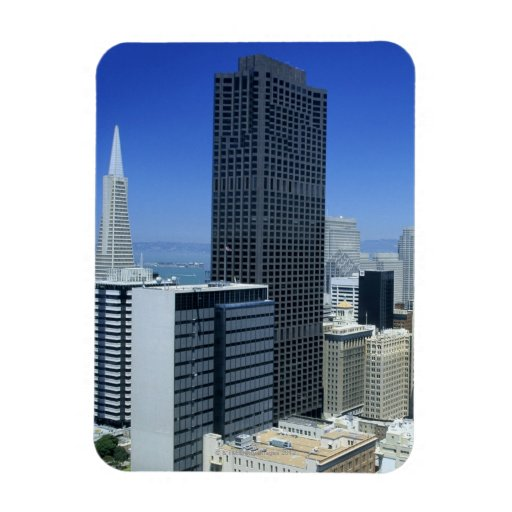 San Francisco, Skyline of Financial District Rectangle Magnets