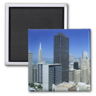San Francisco, Skyline of Financial District Square Magnet