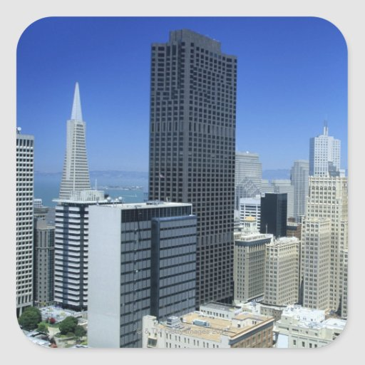 San Francisco, Skyline of Financial District Stickers