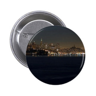 San Francisco Skyline Seen From Across The Bay 6 Cm Round Badge